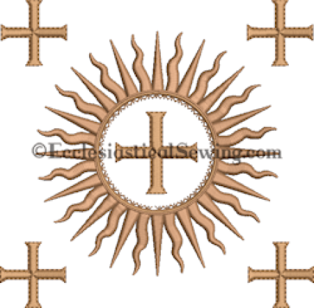 Dayspring Burse embroidery design Ecclesiastical Sewing