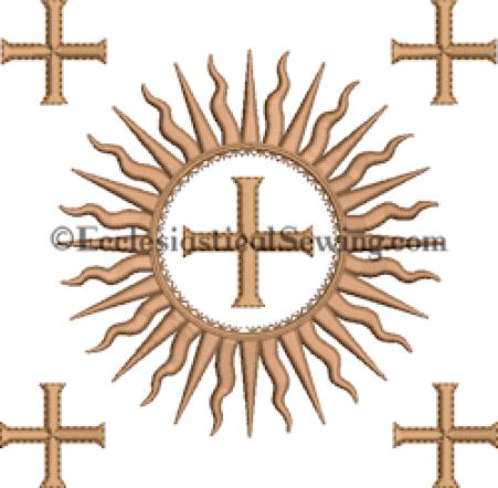 Dayspring Burse embroidery design Ecclesiastical Sewing
