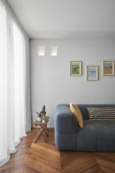 living con divano color carta da zucchero