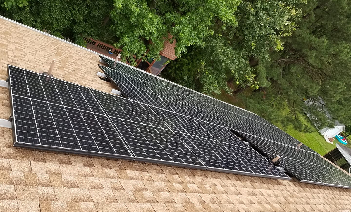 Solar In Action: Curtis in Virginia - 11.3kW Grid-Tied DIY Solar System