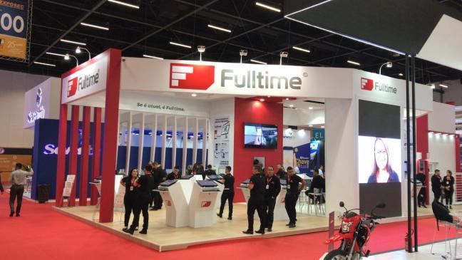 Foto mostra stand da empresa Fulltime