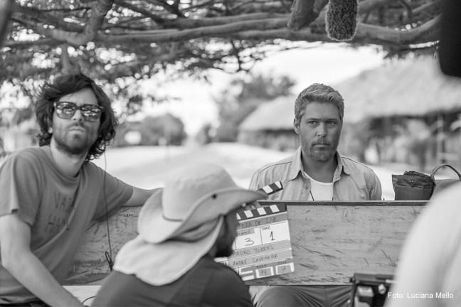 """Foto mostra Bruno Torres durante às filmagens de """"A Espera de Liz"""""""