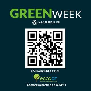 Imagem mostra QRCode da Green Week e Ecooar