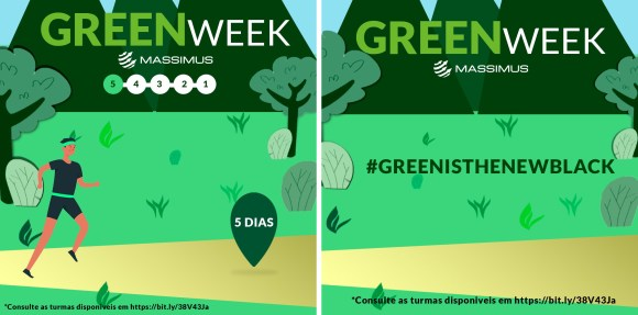 Imagem mostra arte da campanha Green Week