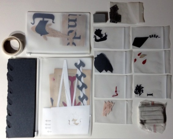 All the pieces for the animation organized before Jessica starts animating. Photograph by Jessica Oreck
