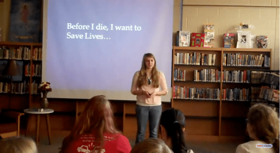 Photo: Laura Wicklund, Vandercook Lake High School's TED-Ed Club