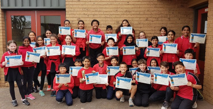 Winners are Grinners: Richmond Primary School places First in Typing Challenge!