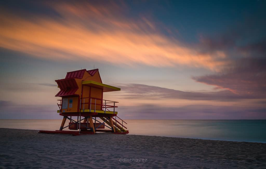 Miami Beach 24 St Lifeguard Tower - image  on https://blog.edinchavez.com
