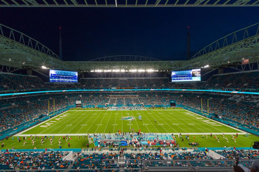 First Miami Dolphins Game at New Hard Rock Stadium - image  on https://blog.edinchavez.com