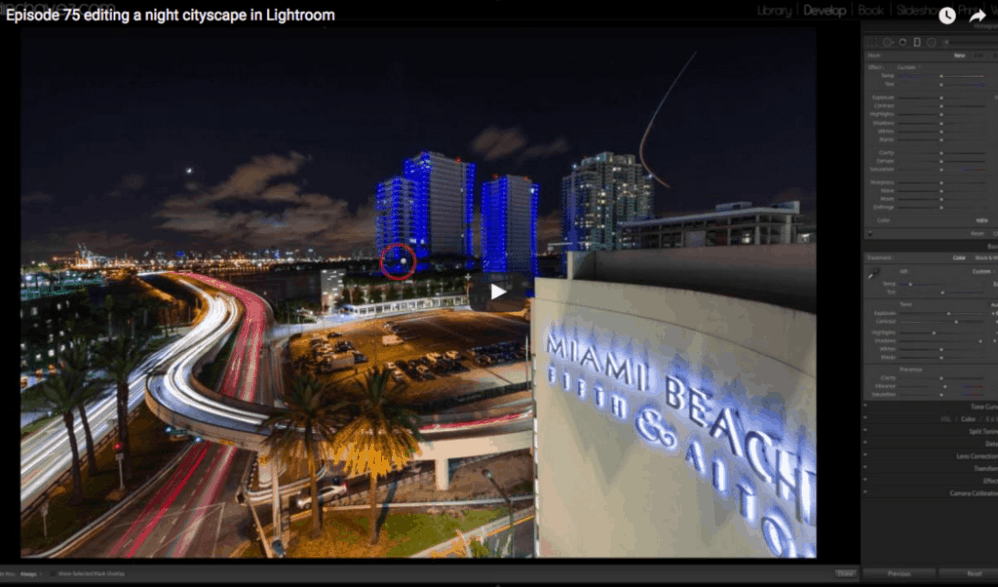How to edit a night cityscape in Lightroom - image  on http://blog.edinchavez.com