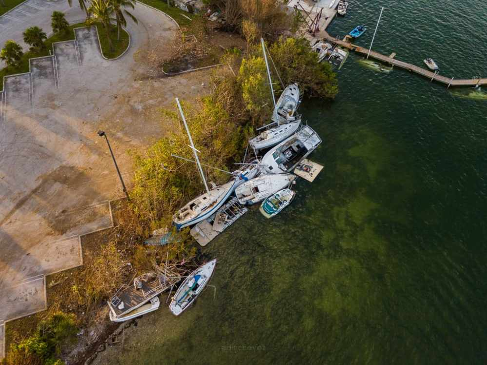 Miami Boats After Hurricane Irma - image  on http://blog.edinchavez.com