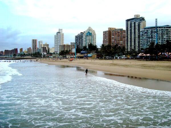 praia de Durban, África do Sul