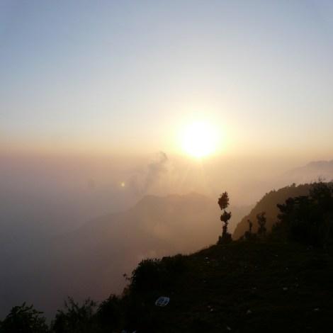 Photo by Dr. Prasanna Sriya; The setting sun revealing the hidden mountains