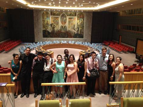Eric and his students at the UN Security Council. Photograph by Eric Carlson