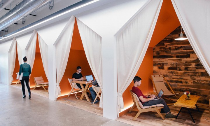 Hold a meeting in a Bedouin-style tent at Airbnb HQ.Photograph by Mark Mahaney