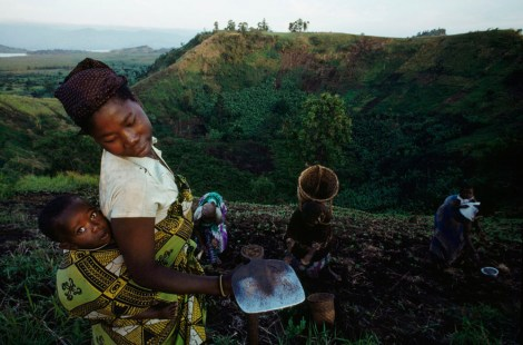 """""""African dark earths"""" refers to the nutrient-rich soils created as homemakers add kitchen waste and charcoal to nutrient-poor tropical soil. Photograph by Chris Johns, National Geographic"""