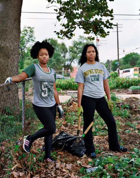 These college students volunteer with the Michigan Urban Farming Initiative, helping to weed, garden, and pick up trash in a Midtown Detroit neighborhood. Photograph by Wayne Lawrence, National Geographic