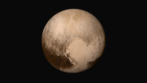 Pluto was ready for its close-up as New Horizons' Long Range Reconnaissance Imager (LORRI) swung by last year. Photograph courtesy NASA / Johns Hopkins University Applied Physics Laboratory / Southwest Research Institute