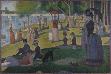 "The most famous Pointillist painting is probably Georges Seurat's ""A Sunday Afternoon on the Island of La Grande Jatte."" It's beautiful. Painting by Georges Seurat"
