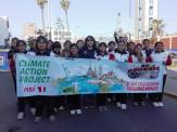 Students in Peru organized a march to support climate action. Photograph courtesy Koen Timmers