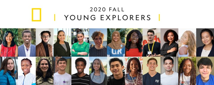Collage of headshots introducing the Fall 2020 Young Explorers