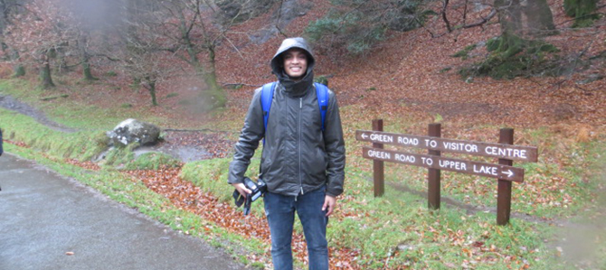 Our Malaysian and Dublin Business Scholl ambassador exploring County Wicklow.