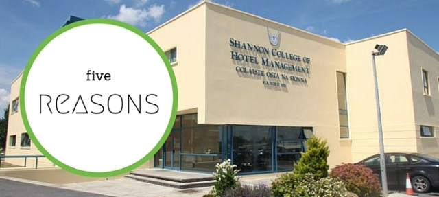 Five reasons to choose Shannon College of Hotel Management
