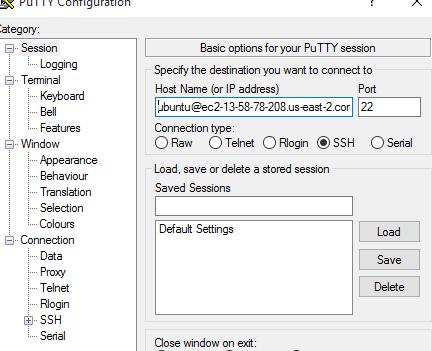 specifying host name