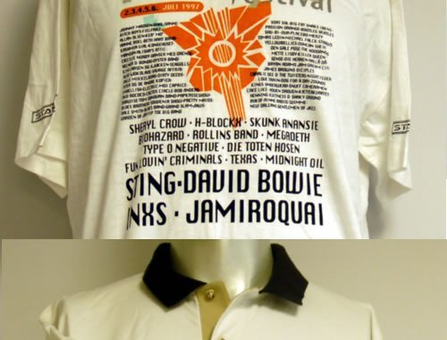 Sting Tour & Crew Shirts