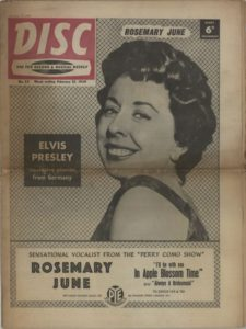 Disc Music Newspaper from 1959