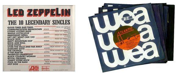 Led Zep 10 Singles