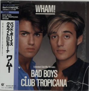 "Wham - Bad Boys 1984 Japanese 2-track 12"" issued in a different picture sleeve to the UK issue"
