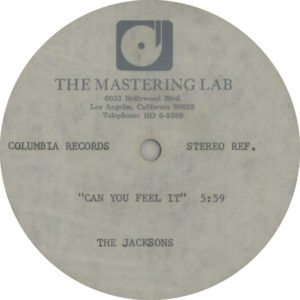 "an You Feel It - Very scarce high-grade methyl cellulose metal based lacquer one-sided 12"" acetate for the 1980 US single release"