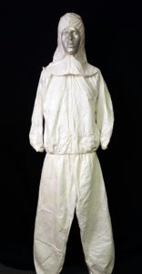 Radio Ga Ga Radiation Suit - genuine 1983 white radiation suit used in the video of Radio Ga Ga. click here