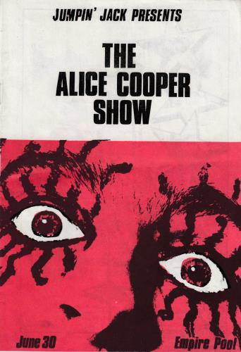 Rare Alice Cooper Programme Now In Stock Specialists In