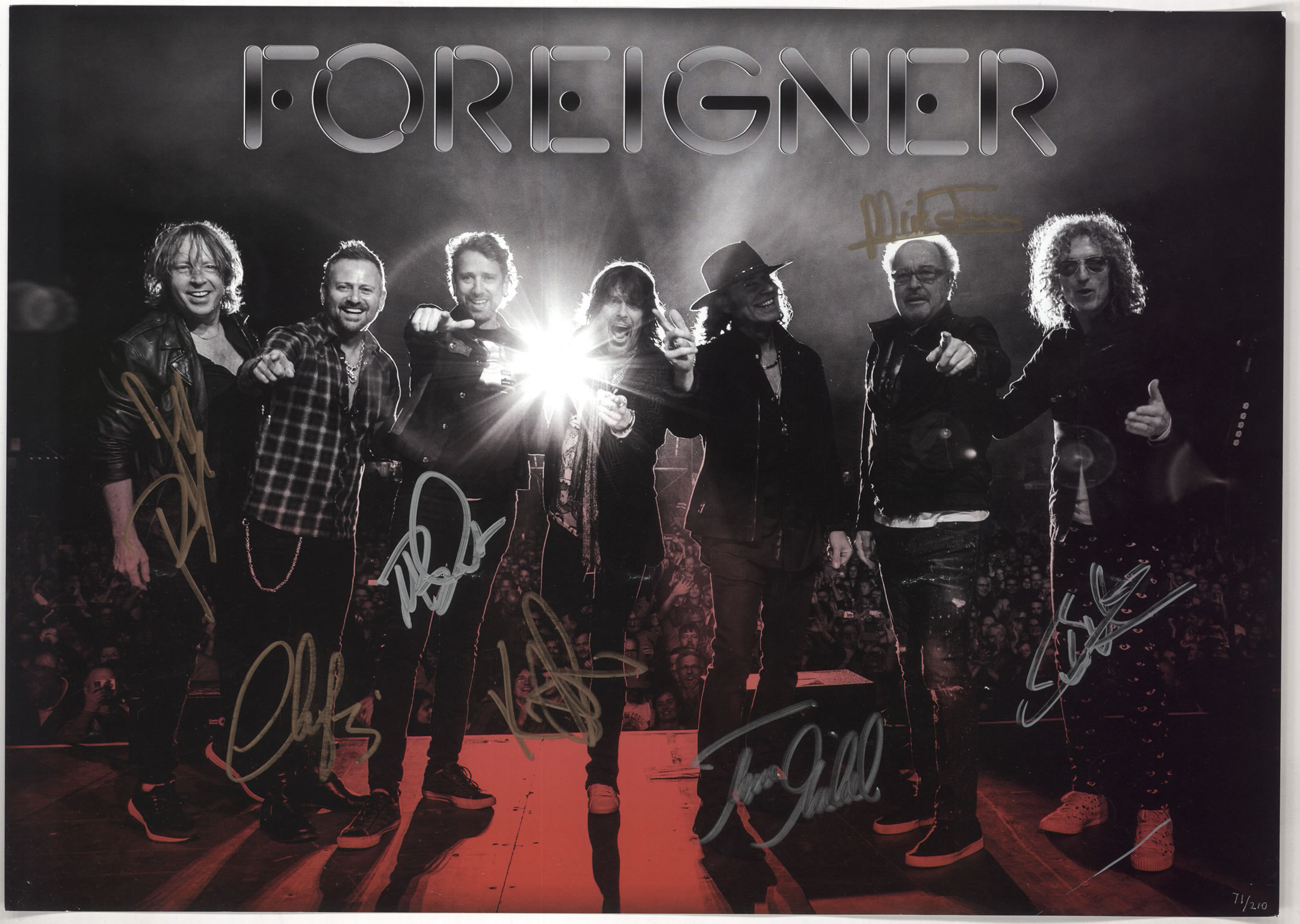 Foreigner VIP 2015 autographed CD all members