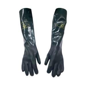 Luva PVC Handschuhe Palma Áspera Verde com Forro 9,5/G