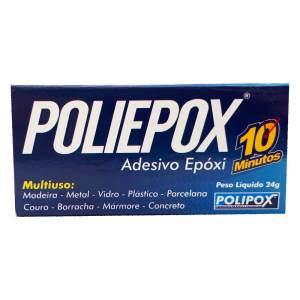 Adesivo Resina Polipox Epoxi Multiuso 10 Minutos 24g