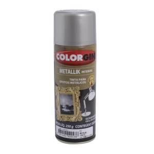 Tinta Metalik Uso Externo Colorgin Spray Prata 350ML