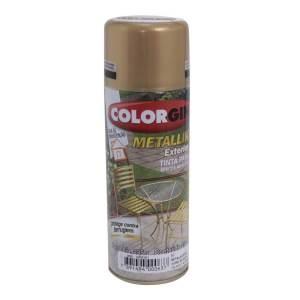 Tinta Metalik Uso Externo Colorgin Spray Ouro 350ML