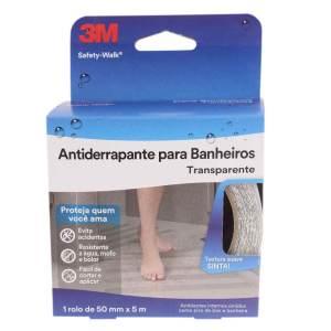 Fita Adesiva 3m 50mm X 5mts Antiderrapante Para Banheiros
