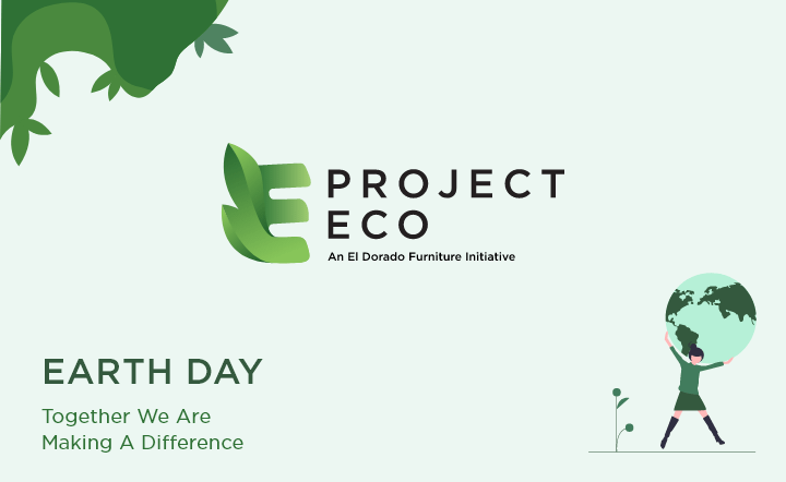 Earth day graphic with project eco