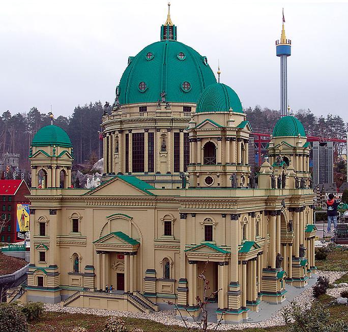 construye tejados con LEGO: catedral de Berlin