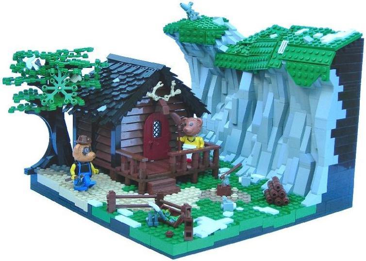 construye tejados con LEGO: Fabuland Bears Lodge
