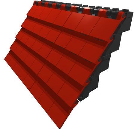 construye tejados con LEGO: pizarra