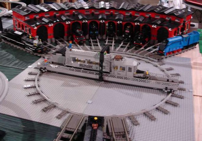 Estación circular con base giratoria