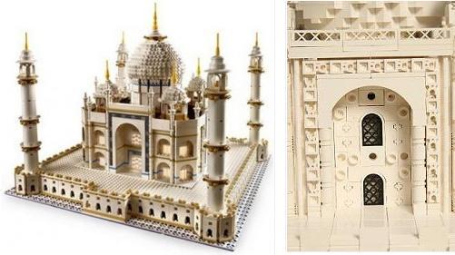 Taj Mahal LEGO y detalle de la versión de Torgugick (dcha.)