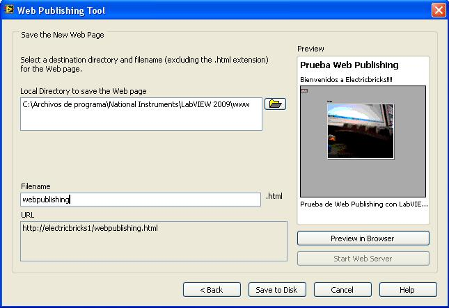 Web Publishing LabVIEW - 4