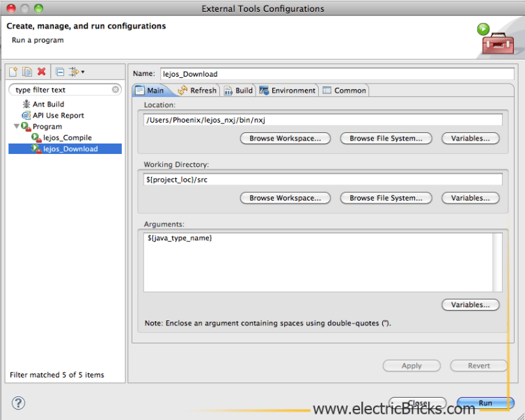 Eclipse para LeJOS en Mac: LeJOS_Download