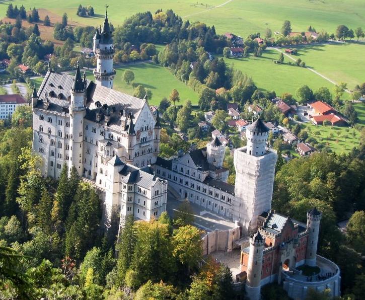 Castillo de Neuschwanstein, vista aérea